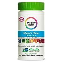 Rainbow Light Men's One Multivitamin Supplement Netcount (180 Tablets),, 180Count