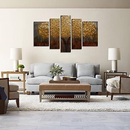 Raybre Art® 5pz/set 100% Dipinta a Mano Quadri Astratti su Tela ...