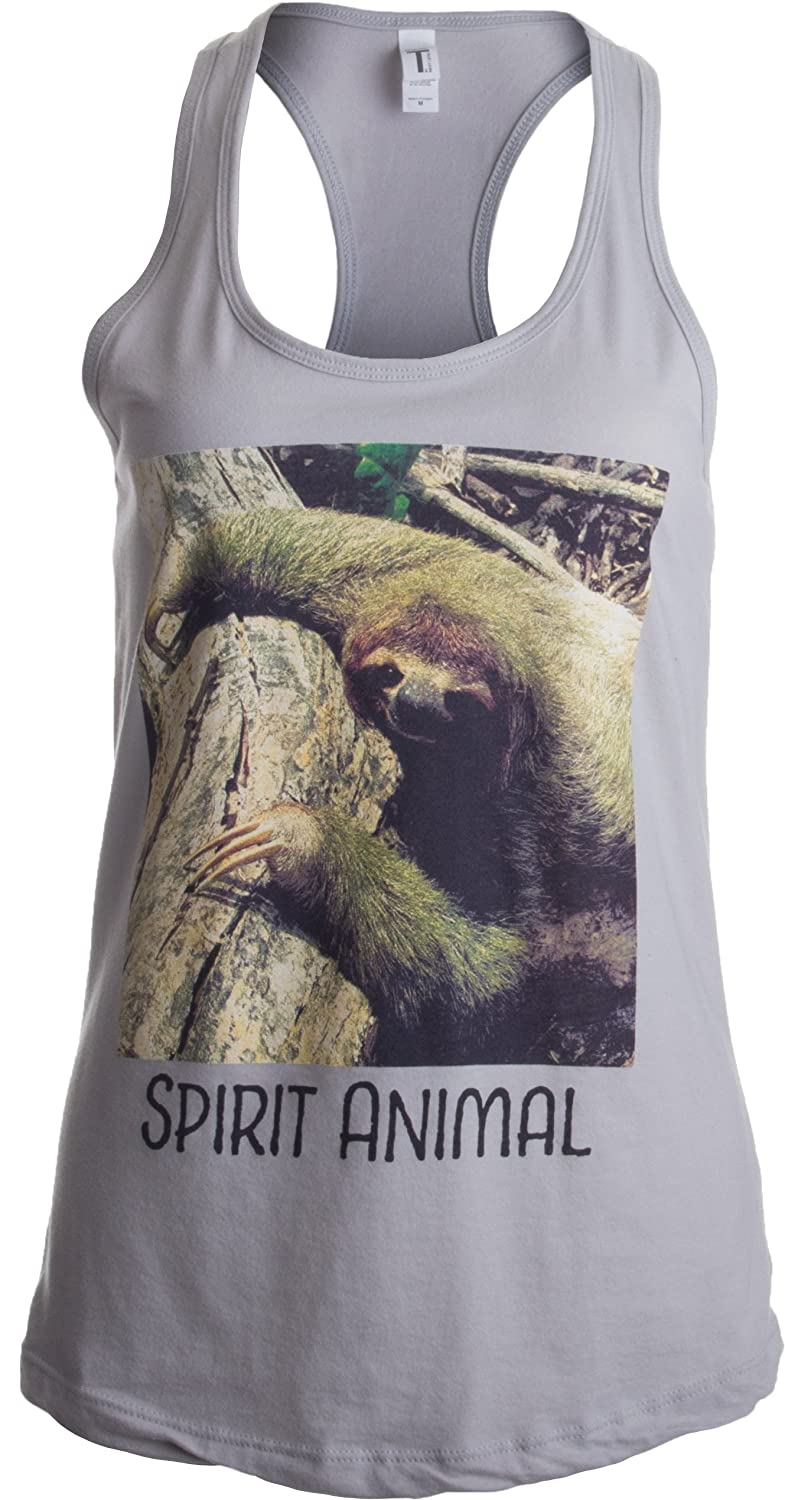 Spirit Animal Sloth | Funny Cute Lazy Kid Nap Time Relax Women's Racerback Tank Ann Arbor T-shirt Co. 0-sba_spiritsloth2-racerback2