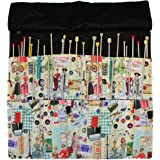 Knitting Needle Wrap, Needle Storage Organiser Pouch Set In Retro
