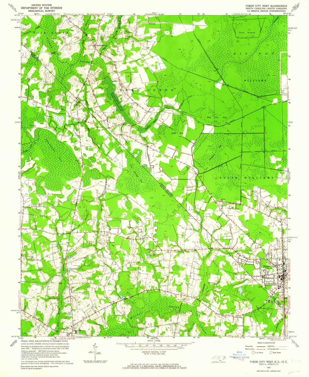 Tabor City Nc Map.Amazon Com Yellowmaps Tabor City West Nc Topo Map 1 24000 Scale