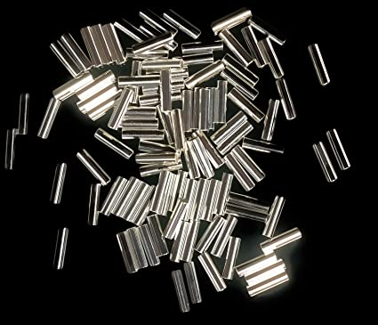 uGems Sterling Silver 1mm X 4mm Liquid Silver Tube Beads 0 028
