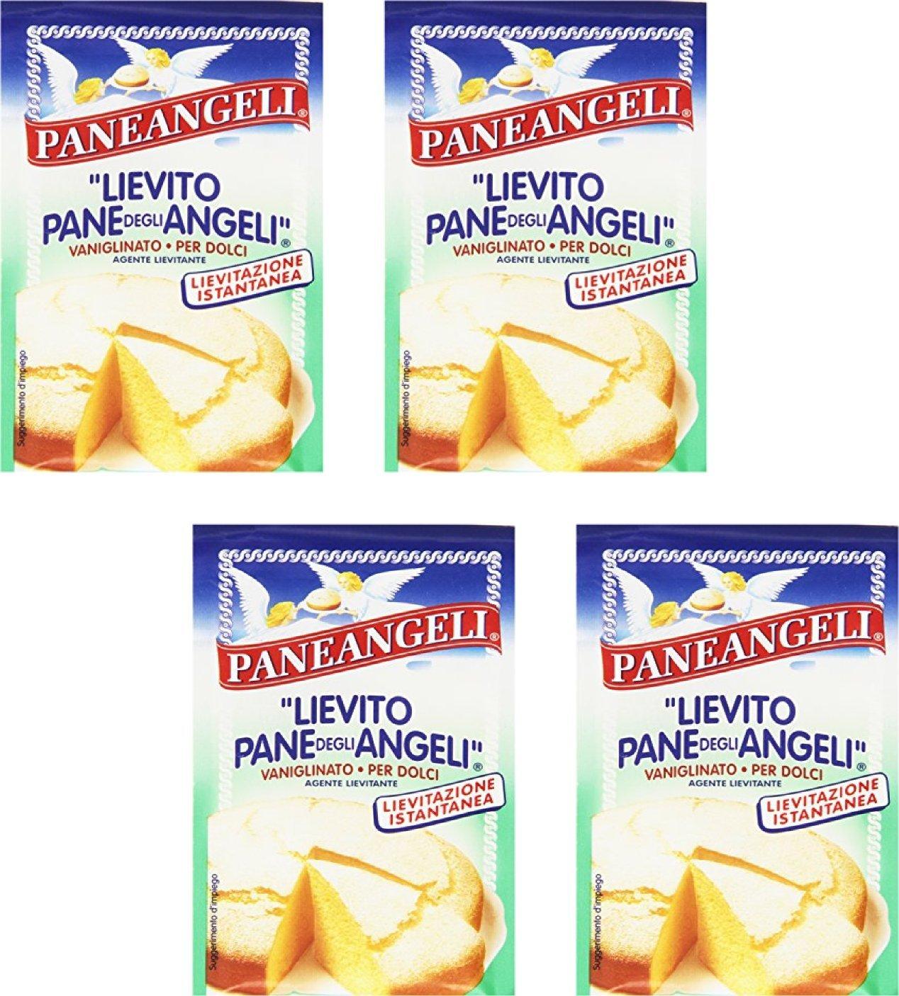 Paneangeli: ''Lievito Pane degli Angeli'' Vanilla Yeast - 16gr Packages (Pack of 4) [ Italian Import ]