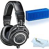 Audio-Technica ATH-M50x Professional Studio Monitor Headphones + BONUS Photive CYREN Portable Wireless Bluetooth Speaker with Built in Speakerphone
