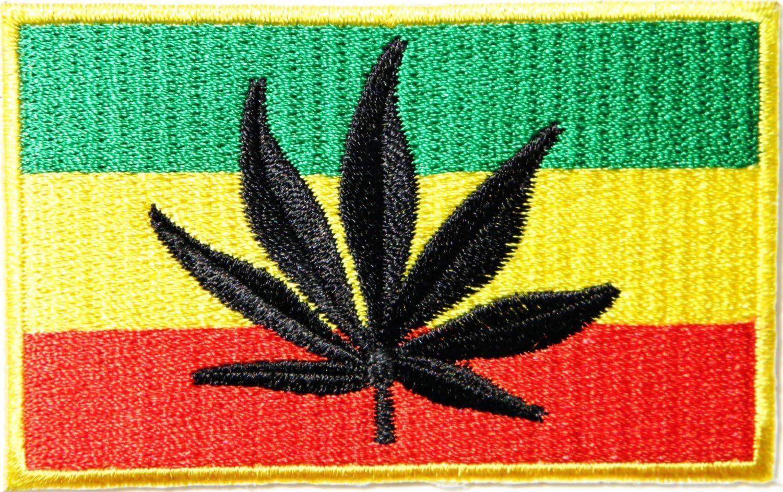 Hierba marihuana Reggae Rastafari Jamaica Logo Rasta hoja ...
