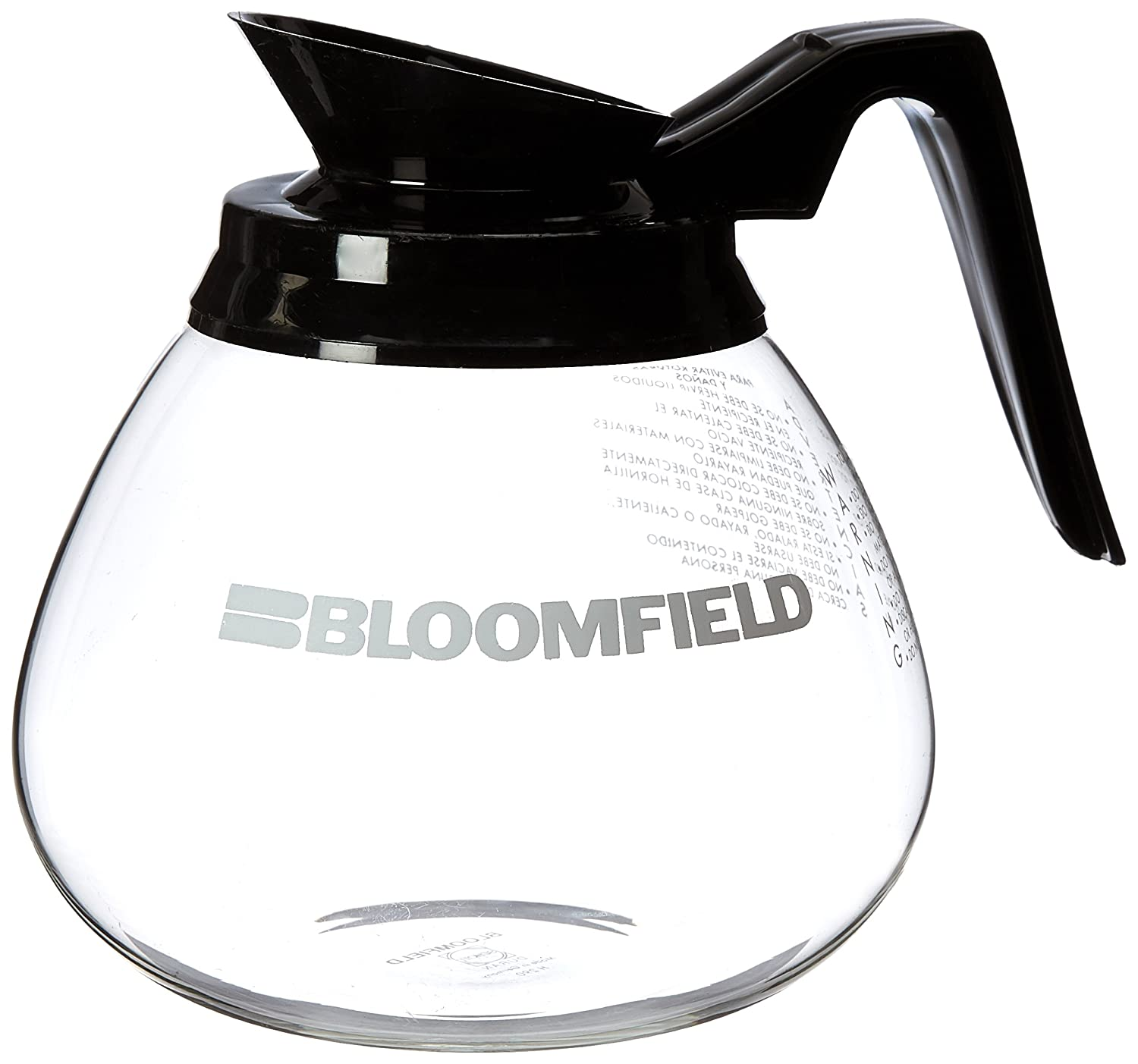 Bloomfield REG10112BLK Glass Decanter with Black Handle Bloomfield Worldwide a division of The Star Group