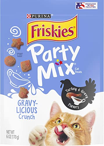 Purina Friskies Party Mix Adult Cat Treats – 6 6 oz. Pouches