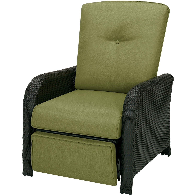 Amazon.com : Hanover Strathmere Outdoor Luxury Recliner, Rich  Brown/Cilantro Green : Patio, Lawn U0026 Garden