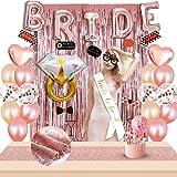 Bachelorette Party Decorations Kit Rose Gold Bride Bridal Shower Hen Party Decor Wedding Supplies Kit Decor Accessories…