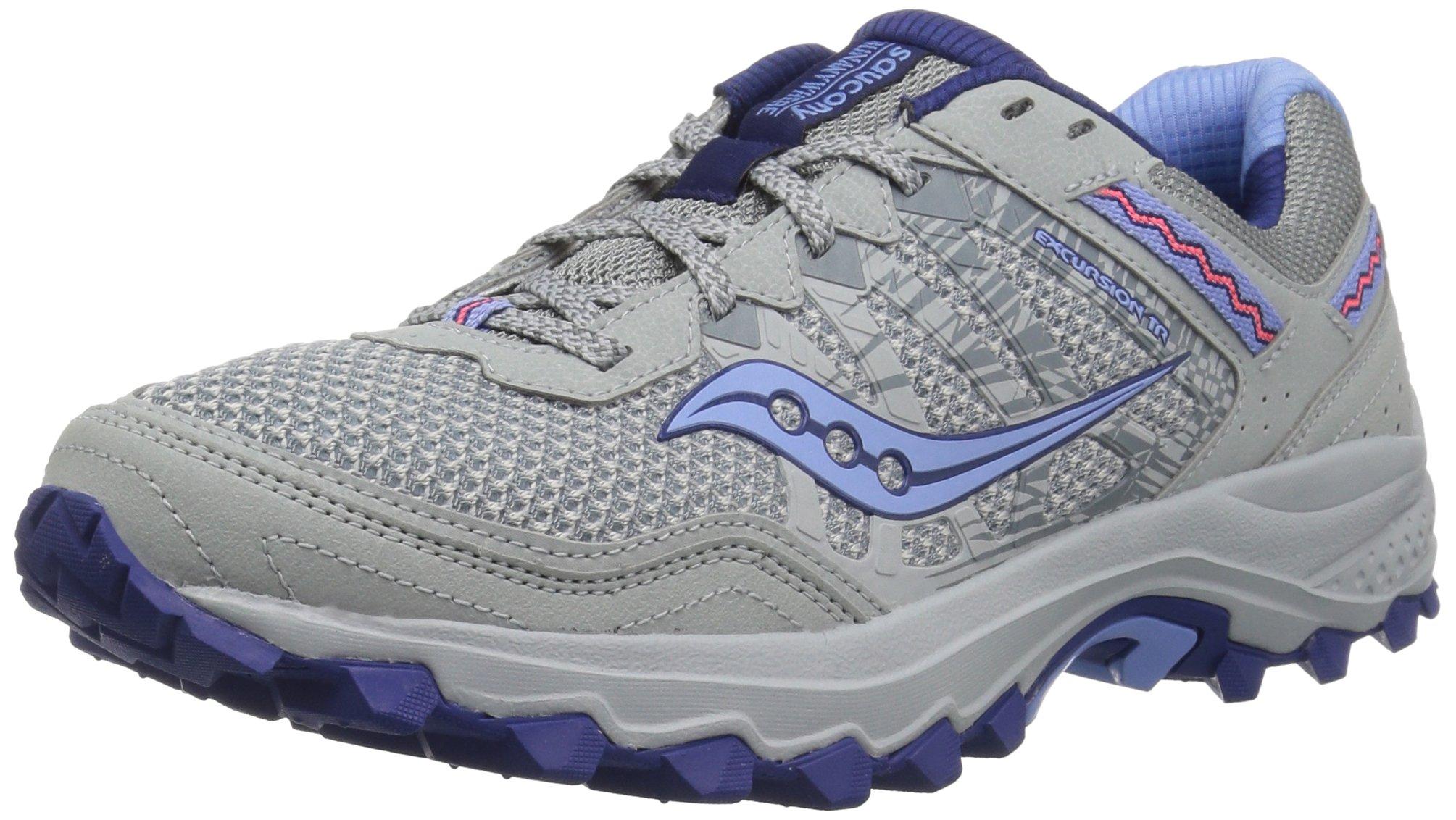 Saucony Women's Excursion TR12 Sneaker, Grey/Blue, 5 M US