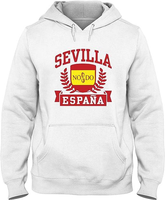 Sudadera con Capucha para Hombre Blanca DEC0440 Sevilla Espana: Amazon.es: Ropa y accesorios