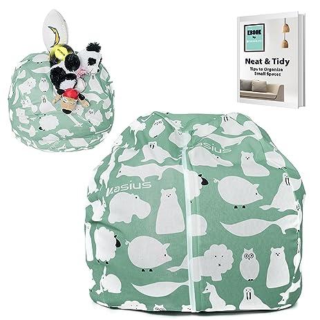 Kasius Stuffed Animal Storage Bean Bag Chair LARGE Stuff N Sit Plush Animals Organizer