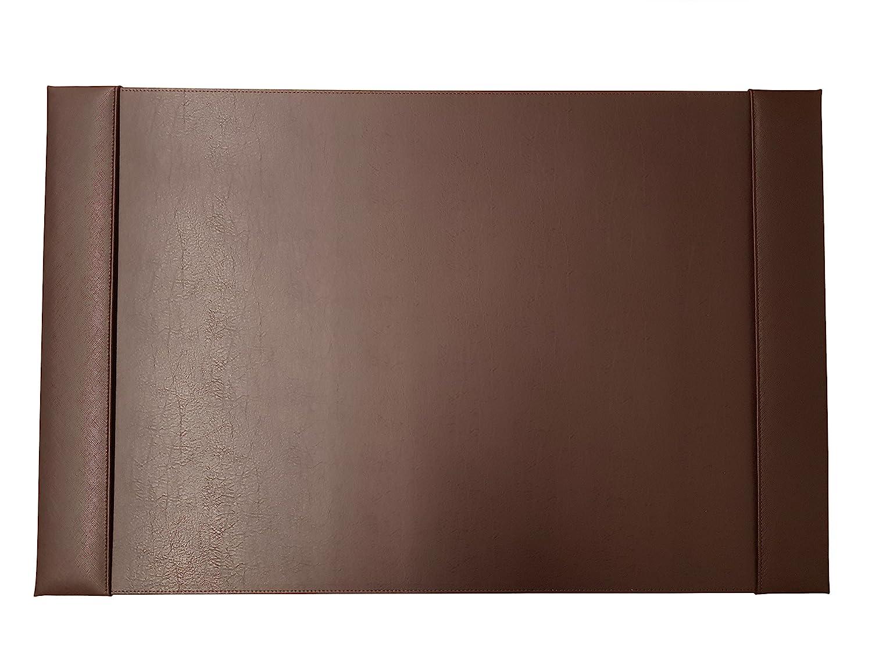 ASL–AKZENTE en cuir A2300–5Sous-main avec rayures marron