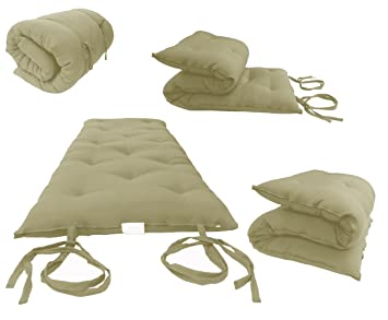 Brand New Tan Traditional Japanese Floor Futon Mattresses, Foldable Cushion  Mats, Yoga, Meditaion