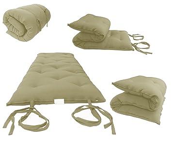 Brand New Tan Traditional Japanese Floor Futon Mattresses, Foldable Cushion  Mats, Yoga, Meditaion