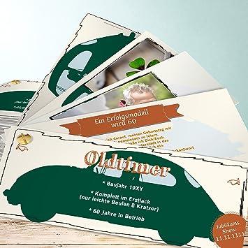 Einladungskarten 60 Geburtstag Mann Oldie But Goldie Mit Foto 60 30