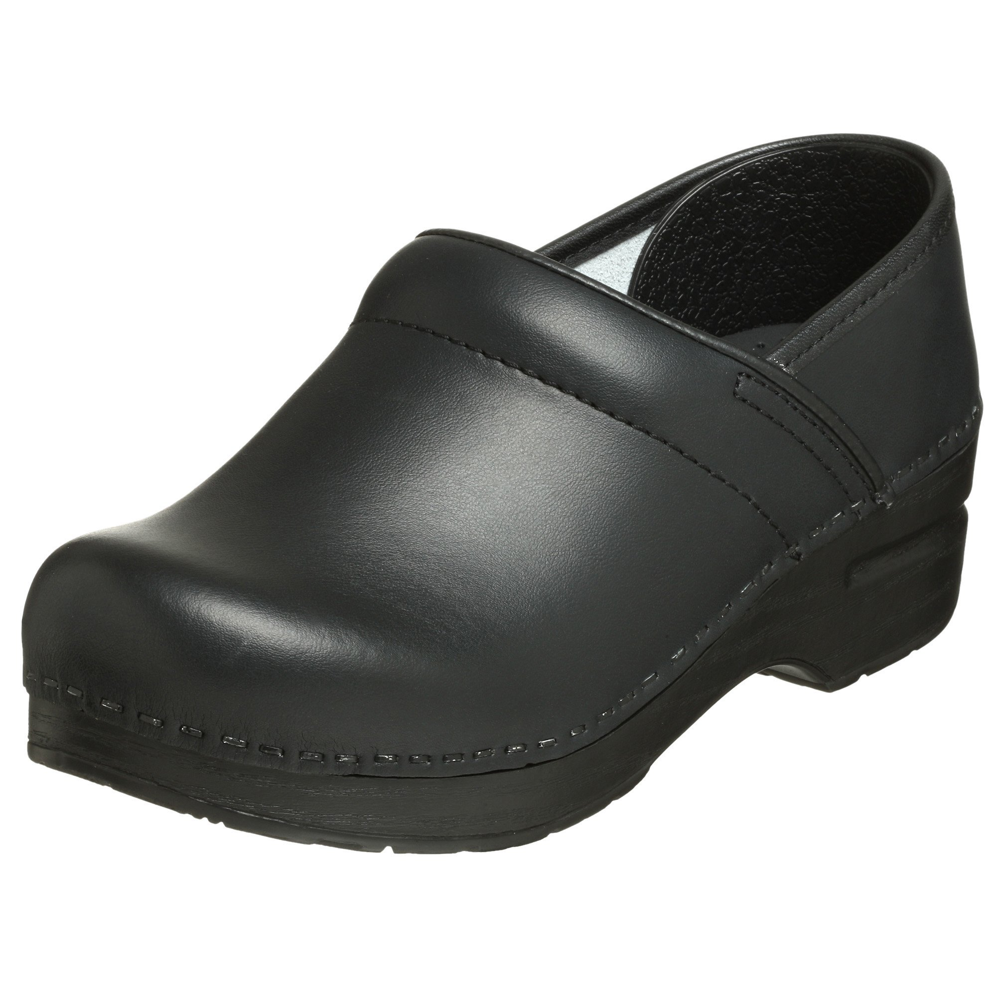 Dansko Women's Professional Box Leather Clog,Black,38 EU / 7.5-8 B(M) US