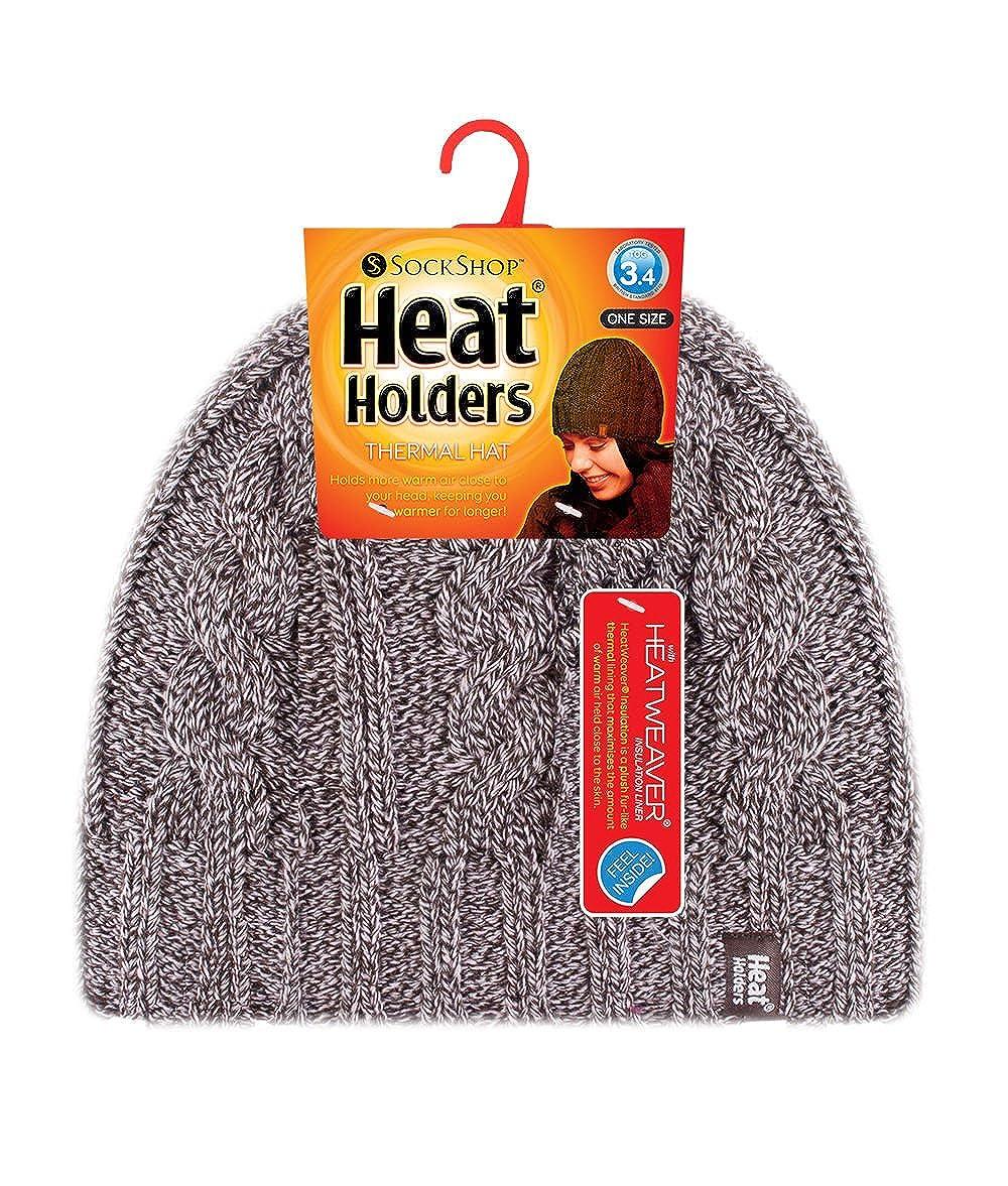 Ladies Ladies Heat Holders Heatweaver Thermal Winter Warm Hat /& Gloves Small//Medium set