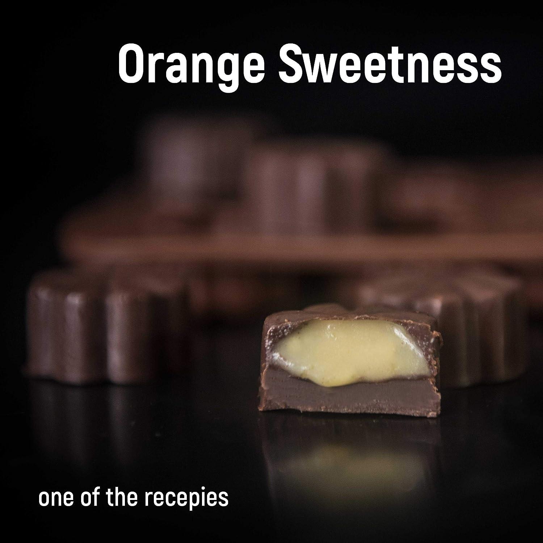 Moldes de silicona para decoración de tartas - Juego de 6 moldes de chocolate - Mejor para decoración de tartas - Moldes de chocolate y dulces - Moldes de ...