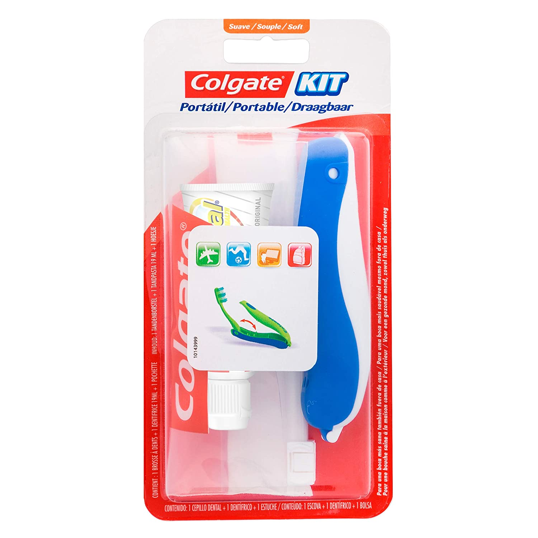 COLGATE kit viaje cepillo y crema dental: Amazon.es: Salud y ...