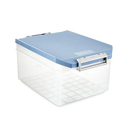 Tatay 1150107 Caja de Almacenamiento Multiusos con Tapa, 14 l de Capacidad, Plástico Polipropileno