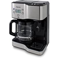 SUNTEC Kaffee- & Teestation KTS-8397 coffee+tea [2 in 1 Station für 1,8 l Kaffe + 1,25 l Heißwasser, separate Befüllung, 3 Kaffeestärken, LCD-Display mit Timer, Auto-Stopp, max. 1900 Watt]
