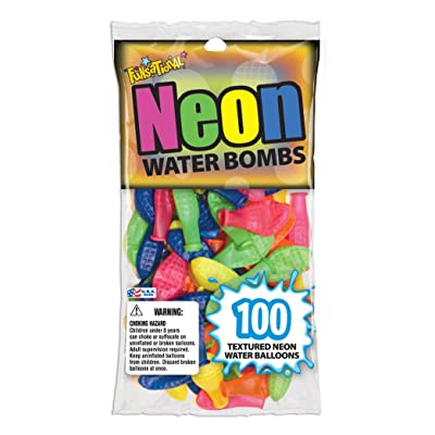 Pioneer National Latex Neon Water Bombs 100 Count Water Balloons, Neon: Toys & Games