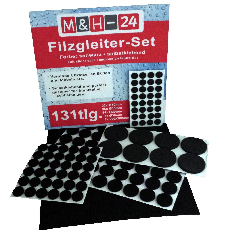 Filzgleiter 262 393 Set selbstklebend Möbelgleiter Stuhlgleiter Bodengleiter