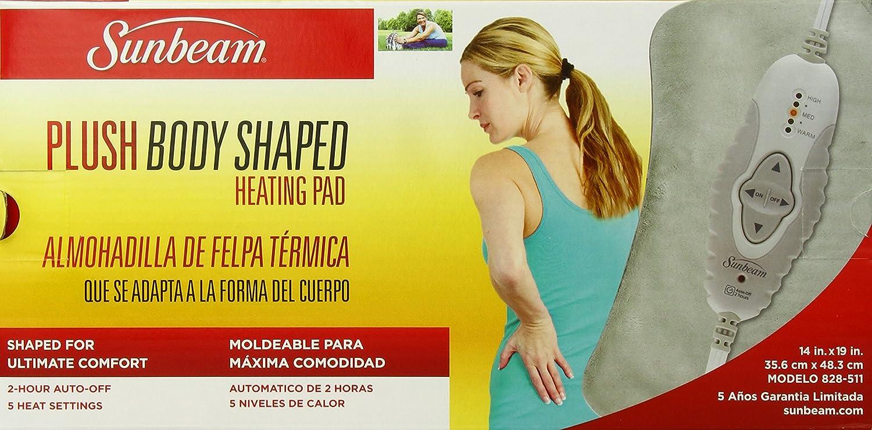 amazon com sunbeam 828 511 contoured heating pad with digital ledamazon com sunbeam 828 511 contoured heating pad with digital led controller health \u0026 personal care