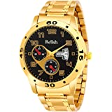 Relish Golden Chain Analog Wrist Watch for Mens