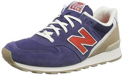 New Balance WL996V2, Baskets Basses Femme, Bleu (Blue/Orange), 37 EU