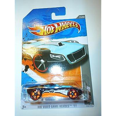 2011 Hot Wheels Black HW-40 #233/244, Video Game Heroes 11 #11/22: Toys & Games