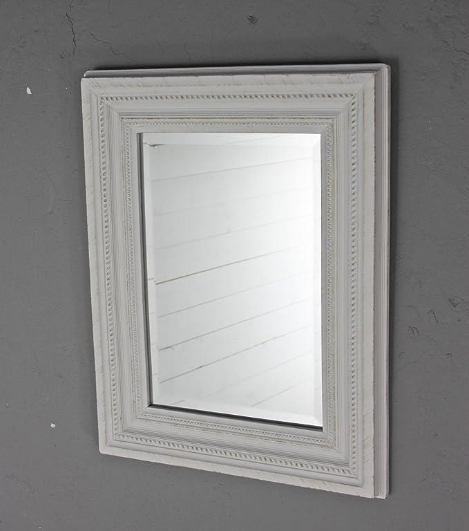 Fesselnd Elbmöbel Spiegel 45 X 35cm Klein In Weiß Antik Mit Patina Wandspiegel  Barock Aus Holz Im ...