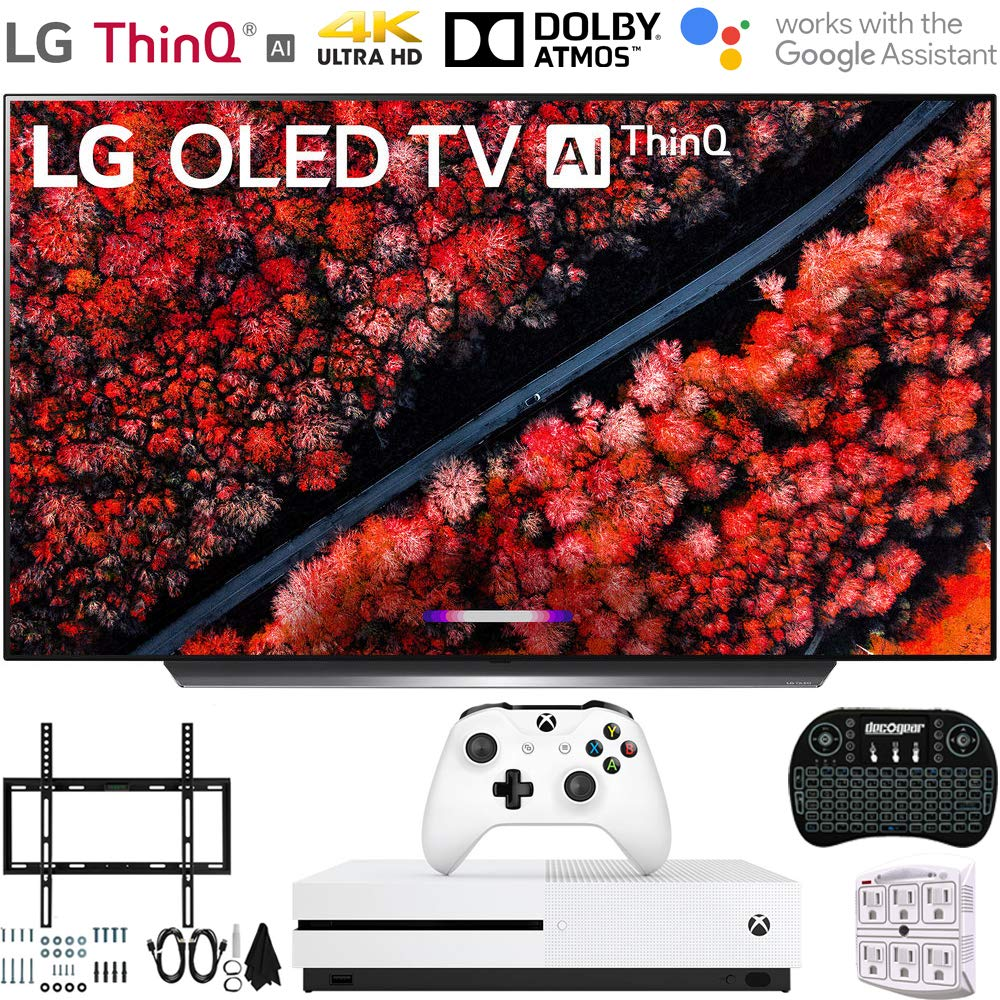 2019 Flat Wall Mount Kit Ultimate Bundle for 45-90 inch TVs and More Microsoft Xbox One S 1TB LG OLED65C9PUA 65 C9 4K HDR Smart OLED TV w//AI ThinQ w//Xbox Bundle Includes