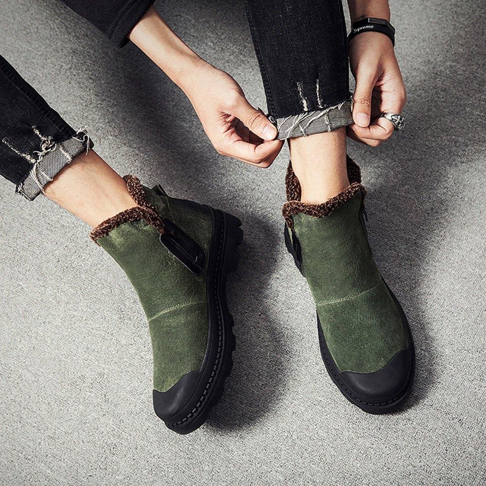 Herrenschuhe Feifei Herren Freizeitschuhe Winter Warm Warm Flanging High Hilfe Baumwolle Schuhe 2 Farben (Farbe   Grün, größe   EU 41 UK7.5-8 CN42)