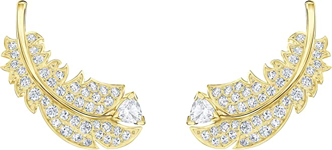 Swarovski Women's Gold-Tone Plated White Crystal Nice Stud Pierced Earrings 5505623