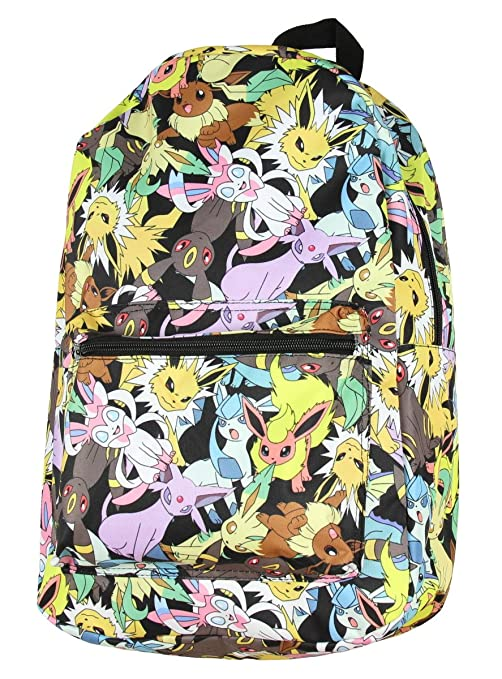 72746a1d09e1 Image Unavailable. Image not available for. Color  bioWorld Pokemon Eevee  Evolution Toss Print Sublimated Backpack
