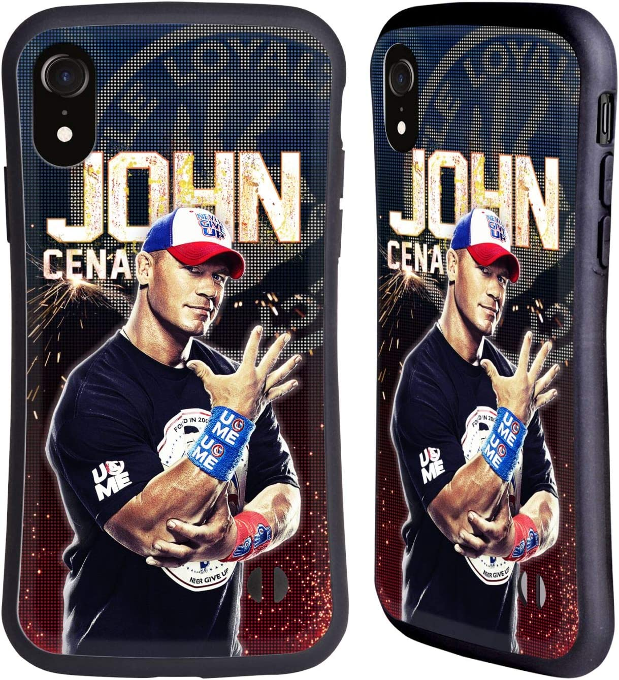 Amazon Com Head Case Designs Officially Licensed Wwe John Cena Superstars Hybrid Case Compatible With Apple Iphone Xr