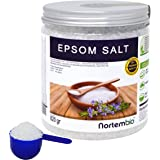 Sel d'Epsom NortemBio 820g, Source concentrée de Magnésium, Sel 100% Naturel. Bain et Soins Personnels.