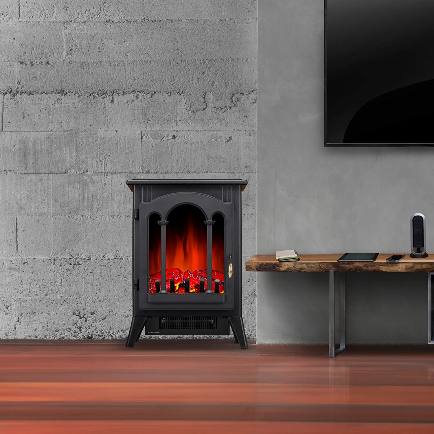 R.W.FLAME 16 Freestanding Electric Fireplace Stove 3D Flame Electric  Fireplace