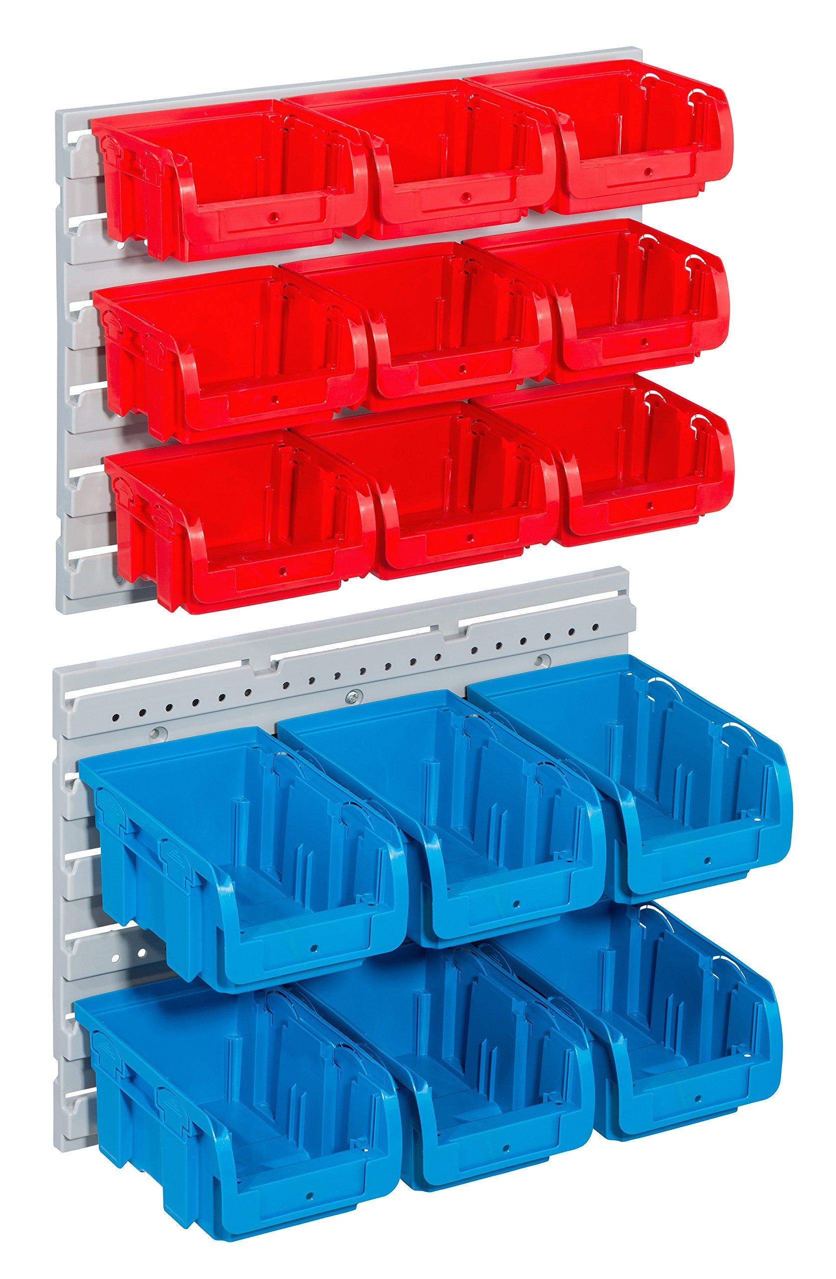 Allit 457120 Storage Bin Set''Profiplus Set C 1+2'' 17Piece in Red/Blue