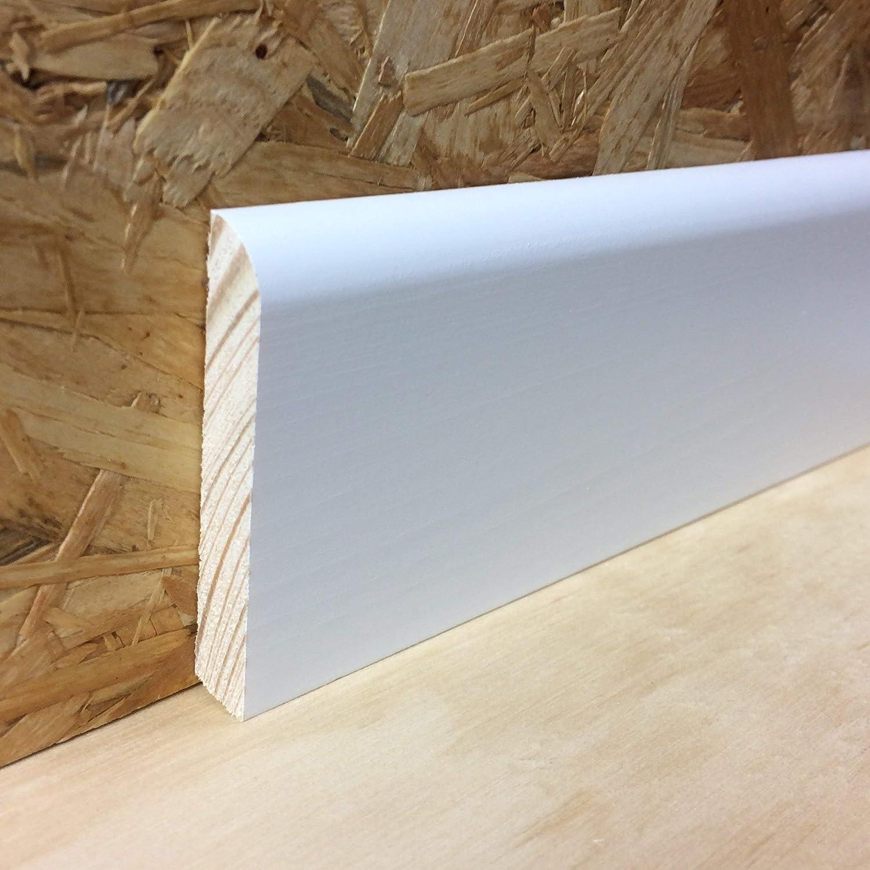 10x58 mm color blanco KIE-1058-S5-2400 TOTAL 12,0 Metros 5x pzas a 2400m Rodapi/é de madera barnizada