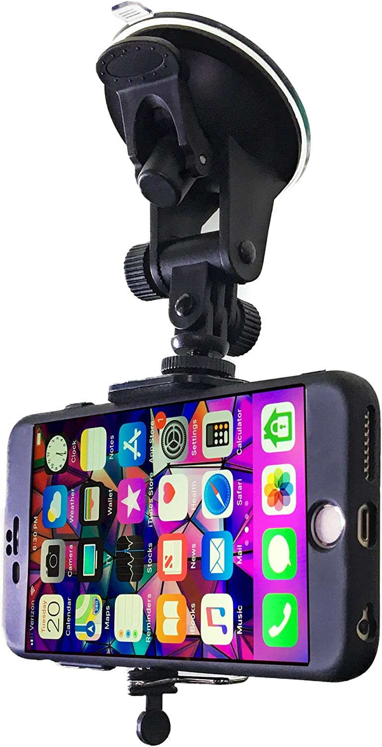 S5 S7 S8 Note 8 S6 S8 Plus Cell Phone Holder for Car Windshield Compatible with iPhone X XS Max XR 8 Plus 7 Plus 6S Plus 6 Plus SE Samsung Galaxy S9 Google Pixel XL by DaVoice Car Phone Mount