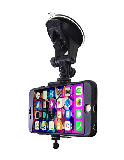 huge discount de0d4 4dfa3 Car Phone Mount - Cell Phone Holder for Car Windshield Compatible with  iPhone X XS Max XR 8 Plus 7 Plus 6S Plus 6 Plus SE Samsung Galaxy S9, S8,  S8 ...