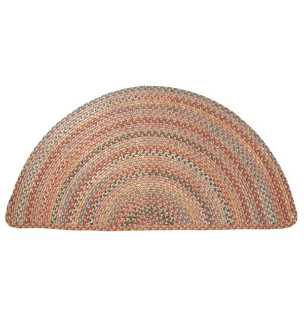 Blue Ridge Half Round Wool Braided Rug, 2' x 4' | Braided Rugs