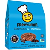 FreeYumm - Double Chocolate Soft Baked Cookies - 21 Individually Wrapped Cookies - Allergen Free - Gluten Free - School Frien