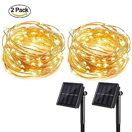 Amazon.com : T HomeLight 2 Pack Solar Power String Light 33FT ...