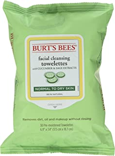 product image for Burt's Bees Facial Cleansing Towelettes, Cucumber and Sage 30 ea (Pack of 12)