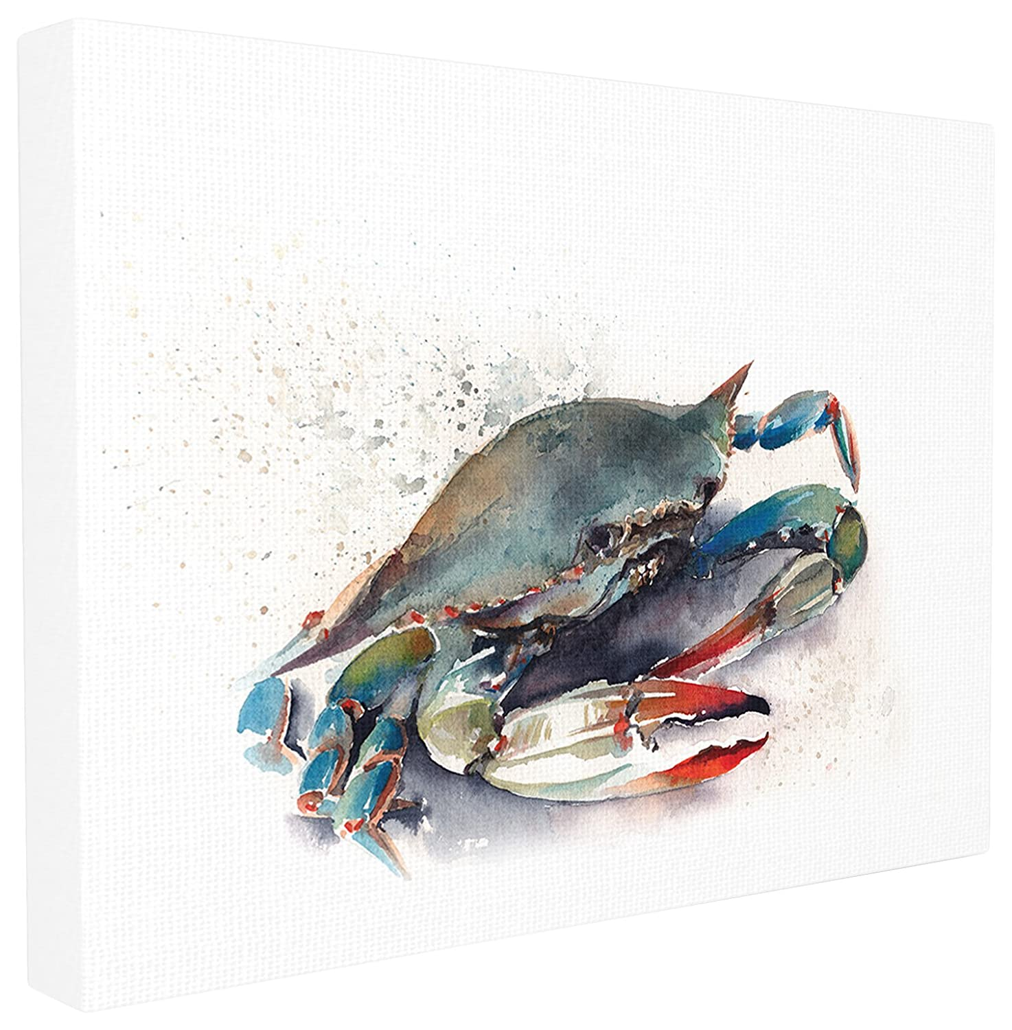 24 x 1.5 x 30 Stupell Home D/écor Rainbow Crab Oversized Stretched Canvas Wall Art Proudly Made in USA