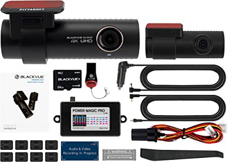 Blackvue Dr900s 2ch With 64gb Micro Sd Card With Power Magic Pro Hardwiring Kit Included Wifi Gps 4k Recording With Parking Mode Auto